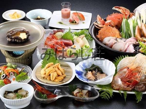 3種類のあわびつき海鮮満喫プラン