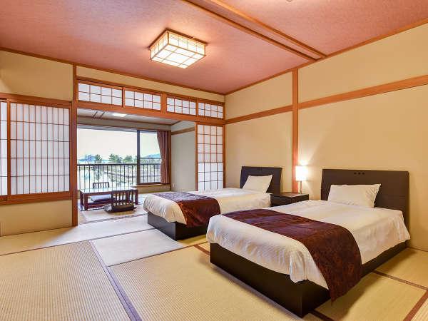 *【プレミアムレイクビュー和室10畳】当館で最も眺望が良い客室になります