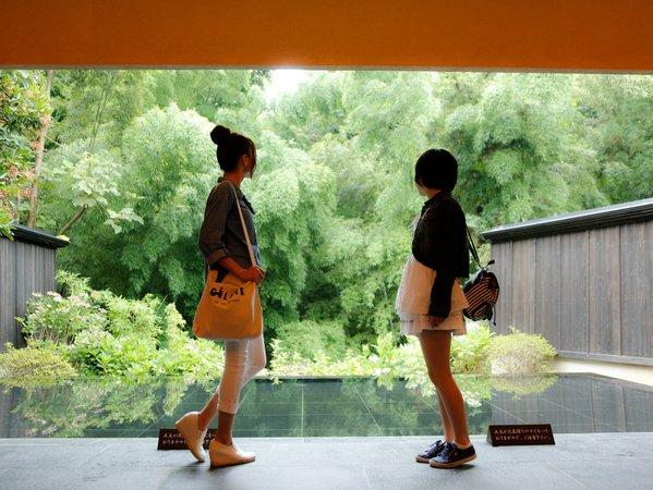 【エントランス】ドアを抜けると目の前に広がる竹林