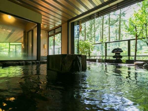 森林浴も堪能できます★ 大浴場の露天風呂