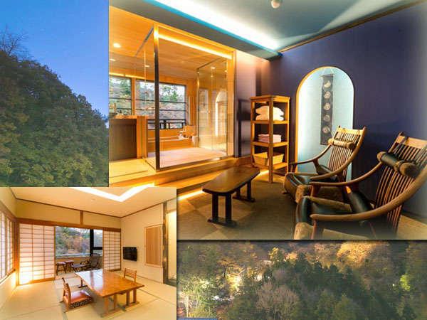 最上階6階の【露天風呂付客室】「月代」☆「望月」 窓の外に広がる美しい景色が自慢の最上階のお部屋