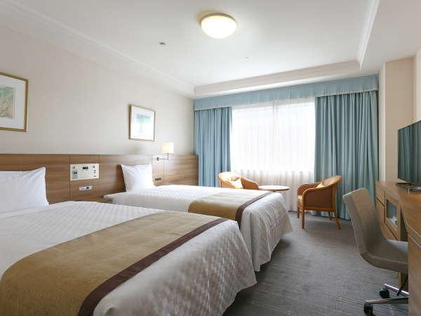 東館と西館からなる客室は全248室。「サンリオキャラクタールーム」などバラエティーに富んだ客室が自慢