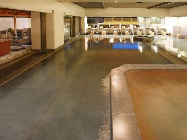 男性大浴場「綿の湯」身も心も癒される湯量豊富な温泉です。24時間営業・時間に縛られず寛ぎの時を・・