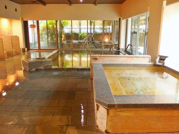 女性大浴場「絹の湯」肌に優しい温泉をゆったり楽しめます。