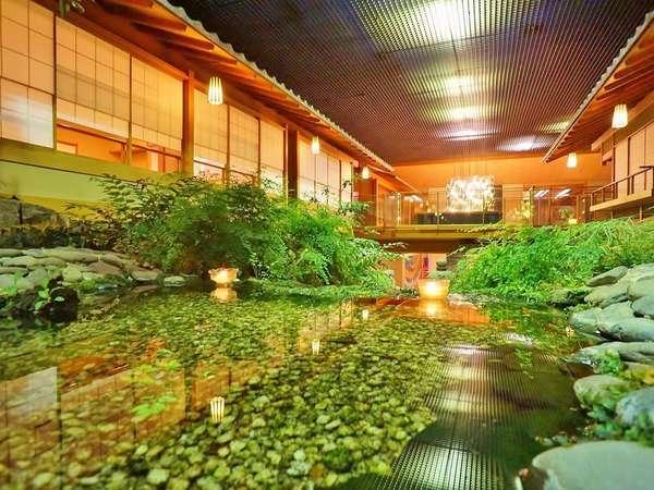 【料亭・浮城】本格屋内庭園を望むプライベート個室料亭