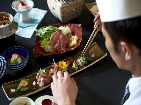 料理長が真心こめて作る和食会席料理をご堪能下さい。