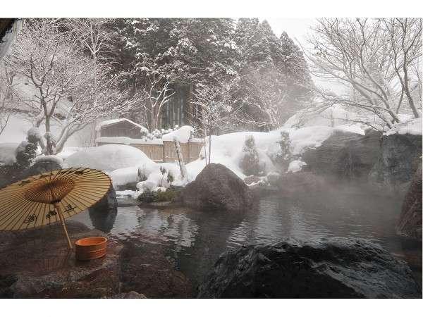 野天風呂冬