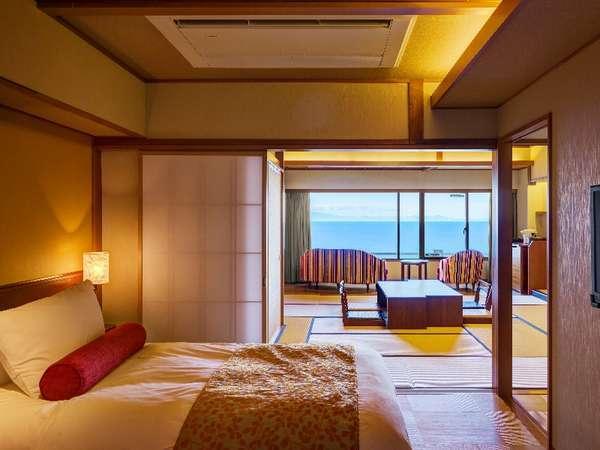 オーシャンビュー和洋室/駿河湾一望の和洋室。東館の一例です。