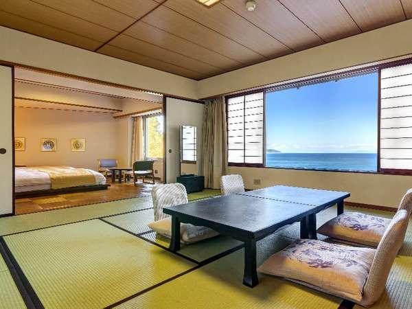 オーシャンビュー和洋室/駿河湾一望の和洋室。南館の一例です。