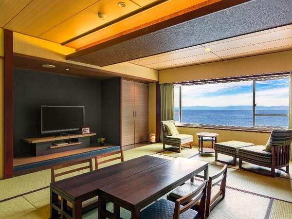 オーシャンビュー和室/駿河湾一望の和室。