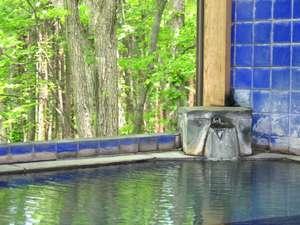 豊かな自然の中でゆっくり掛け流しの濁り湯温泉へ!