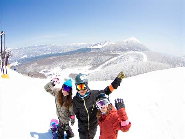 表磐梯のスキー場でスキースノボー楽しんで!