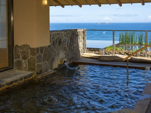 【2021年8月リニューアル/山王の湯】(露天風呂)海を眺めながら熱海の温泉をご満喫下さい。