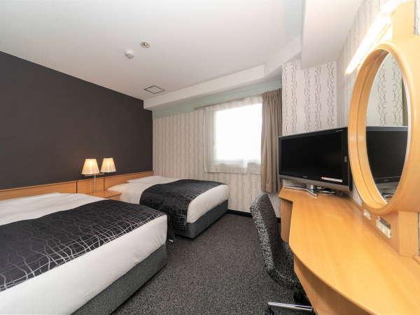 ツインルーム / 16平米 / ベッド幅120cm×2台