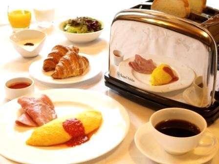 朝食:アメリカンブレックファスト(オムレツ)