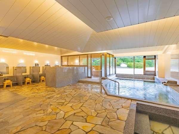 箱根七湯を代表する湯本の湯自慢の湯をたたえた大理石風呂でゆったり