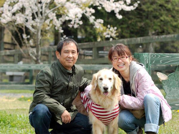 *【ロッヂ花月園へようこそ】63平米~のゆったり広さの一戸建てコテージで小型犬~大型犬まで一緒にOK