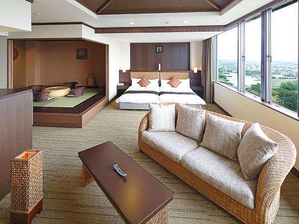 [オリエンタルルーム]光り輝く浜名湖の景観を愉しみながら、贅沢なひとときをお過ごしください。