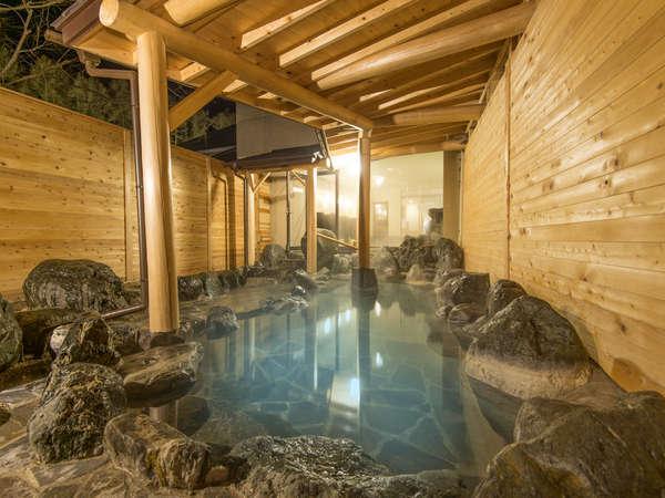 広々とゆったりした露天風呂 天然温泉『庄兵衛の湯』