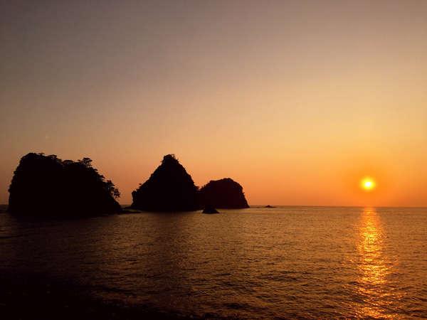 瀬浜海岸の夕陽