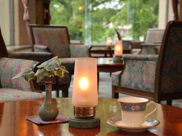 ◇夕暮れ時の素敵なラウンジ。コーヒーが美味しい(^^)