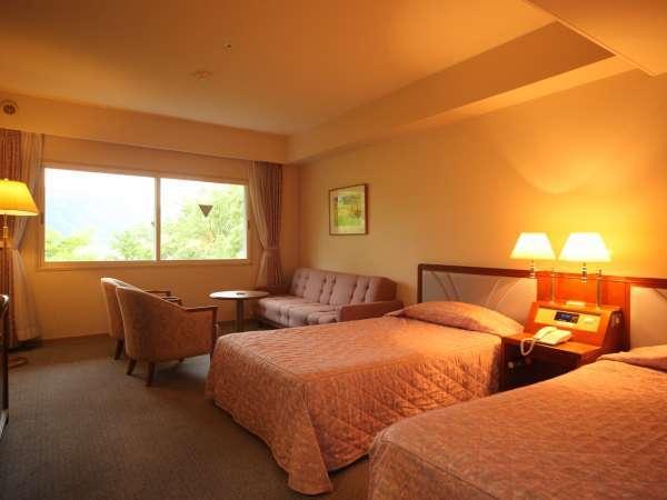 ◇トリプルルームの一例(※ツインベッド+ソファーベッド)