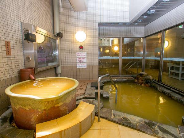 女性露天風呂◇源泉かけ流しの浴槽があります[はこだて大森の湯]