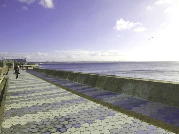 近くの海岸をゆったりお散歩で心をリフレッシュ!
