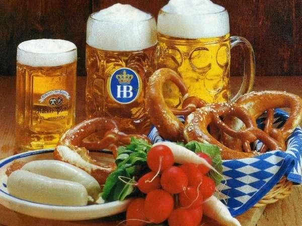 ドイツビールとドイツソーセージ・プレッツェル