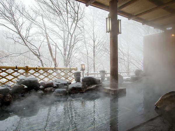 【露天風呂】かっぱの銅像が飾られているので、入浴の際はぜひご覧ください