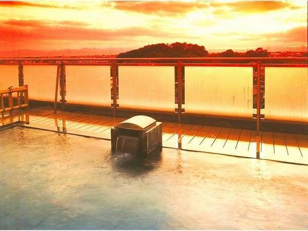 夕日が綺麗な露天風呂
