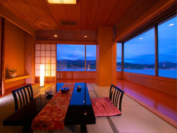 【特別室】大きな窓からは気仙沼湾を一望!水平線を眺めているといつの間にか時が過ぎてしまします