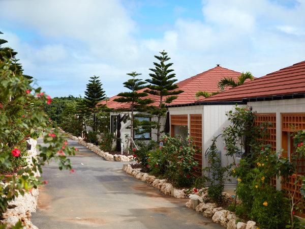 ヴィラ外観/1棟に4室ずつ設えた客室は、ファミリーでも広々・快適にお寛ぎいただけます。