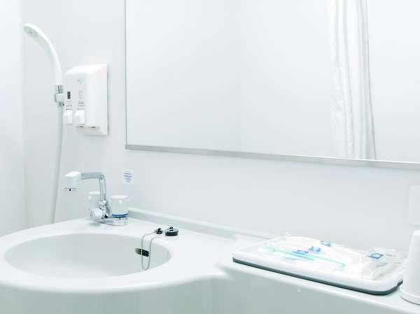 洗面台◆明るい照明、鏡には曇り止めがされています。