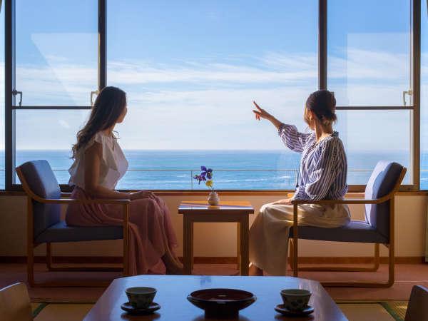 どこまでも続く熊野灘を眺めながら、ごゆっくりお寛ぎください。