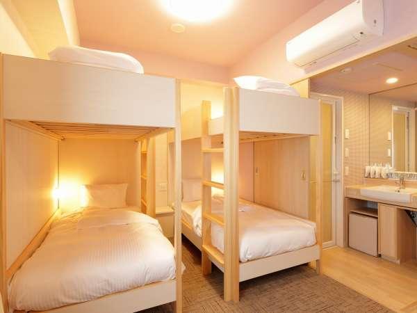 【ワクワク 2段ベッド■禁煙】2段ベッドが2台入った4名様でご利用できるお部屋です。