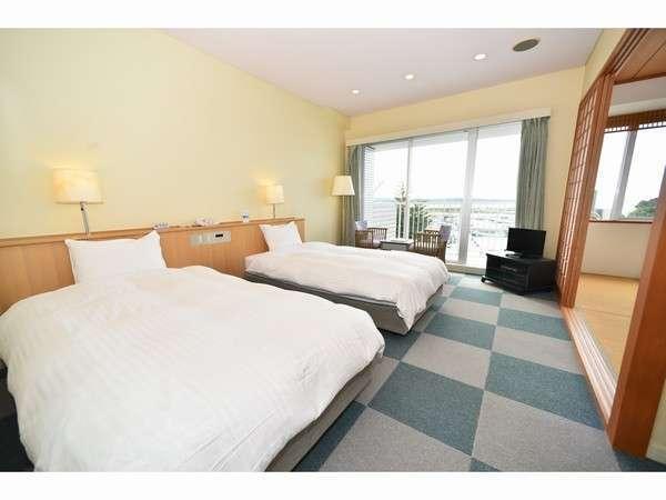 3階4階和洋室セミダブルツインベッド