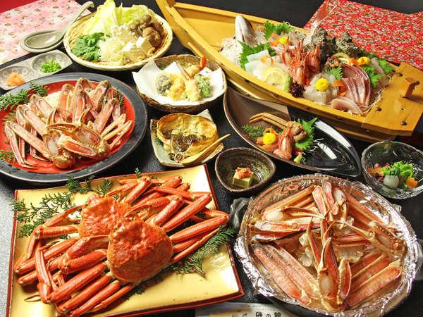 ボリュームに驚くこと間違いありません!蟹と舟盛りプラン
