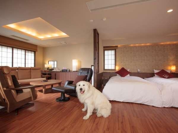 【愛犬と泊まれるお部屋・和洋室】