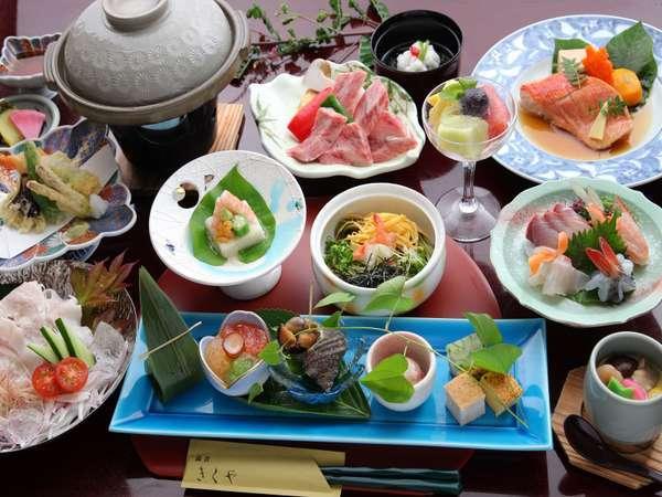 【1番人気】純和風会席~特選黒毛和牛など厳選食材を調味料までこだわって仕上げる料理