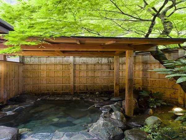 【貸切専用露天風呂】清々しい新緑の頃