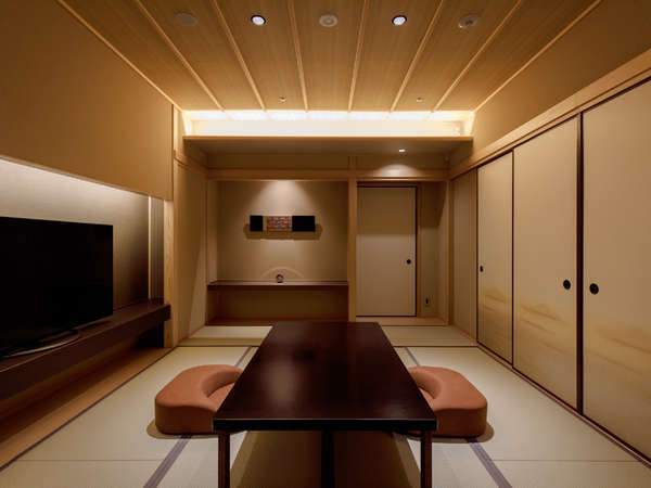 金銀露天付き貴賓室の、10畳の和室