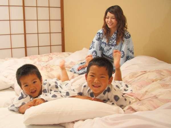 大の字和室はご家族でゆっくりとおくつろぎ頂けます。