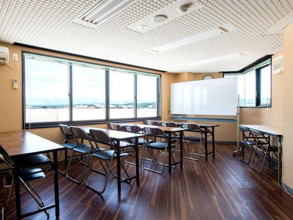会議室(有料)もありますので、セミナーなどにお使いいただけます