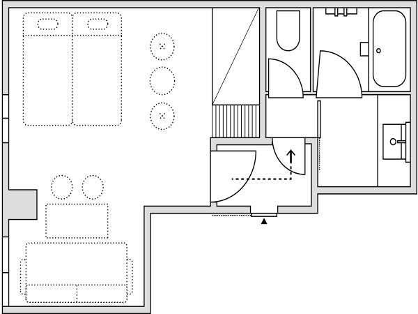スーペリア4/ジャパニーズスタイル/客室外隣接専用バスルーム付