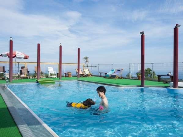 【わんちゃん専用温水プール】晴れた日には伊豆七島も望める!チェックイン当日12時より利用できます♪