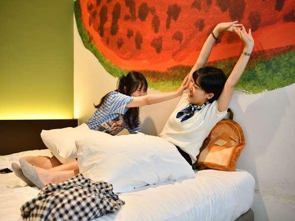 ダブルルーム・ツインルームは女子旅・カップル旅行におすすめ♪