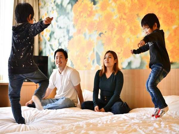 ファミリー大歓迎♪アートステイは家族みんなが楽しめるホテルを目指しています!!