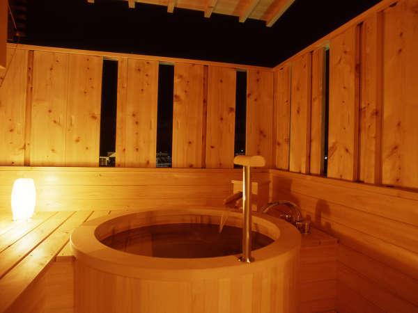 【藤の棟 露天付 Aタイプ】スイート和洋室(禁煙) 露天風呂一例