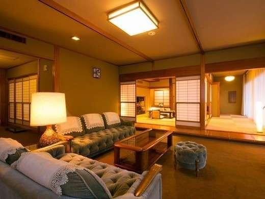 ◆指宿の棟◆特別室(12.5畳+8畳+応接間)広々とした寛ぎの客室で非日常のひとときを。